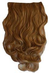Vipbejba Flip-in/neviditeľné syntetické predĺženie vlasov, kučeravé, tmavé blond pramene F39