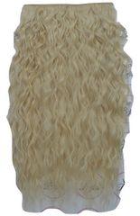 Vipbejba Sintetični clip-on lasni podaljški na 1 zaveso, izredno skodrani, svetlo blond F18