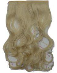 Vipbejba Flip-in/neviditeľné syntetické predĺženie vlasov, kučeravé, farba svetlá blond F18