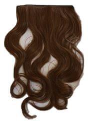 Vipbejba Flip-in/neviditeľné syntetické predĺženie vlasov, kučeravé, farba svetlo hnedá F6