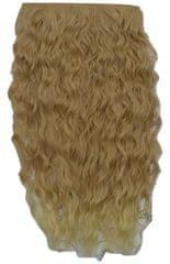 Vipbejba Syntetické clip-in vlasy na 1 páse, extrémně kudrnaté, barva medová blond s blond hroty F23