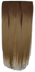 Vipbejba Syntetické clip-in vlasy na 1 páse, rovné, typ ombre - farba hnedá a tmavá blond +27/613