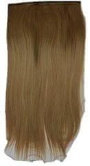 Vipbejba Syntetické clip-in vlasy na 1 páse, rovné, typ ombre - farba svetlo hnedá a blond 16+27/613