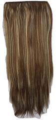 Vipbejba Syntetické clip-in vlasy na 1 páse, rovné, svetlo hnedé s blond prameňmi