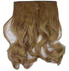 Vipbejba Syntetické clip-in vlasy na 1 páse, kučeravé, typ ombre - svetlo hnedá a blond pramene, 16+27/613