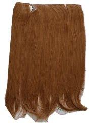 Vipbejba Syntetické clip-in vlasy na 3 pásoch, rovné, farba gaštan červenohnedý #26/30, 200g