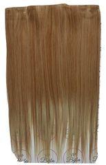 Vipbejba Syntetické clip-in vlasy na 3 pásoch, rovné, farba svetlá blond s hnedými prameňmi F16