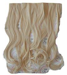 Vipbejba Sintetični clip-on lasni podaljški na 3 zavese, skodrani, platinum blond F19