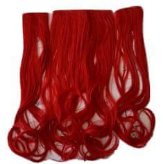Vipbejba Syntetické clip-in vlasy na 3 pásoch, kučeravé, farba jasná červená F36