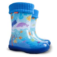 Demar Detské zateplené gumáky HAWAI LUX EXCLUSIVE 0448/0449 EG oceán