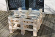 Moduleta Konferenční stůl čtverec Velikost: Sklo