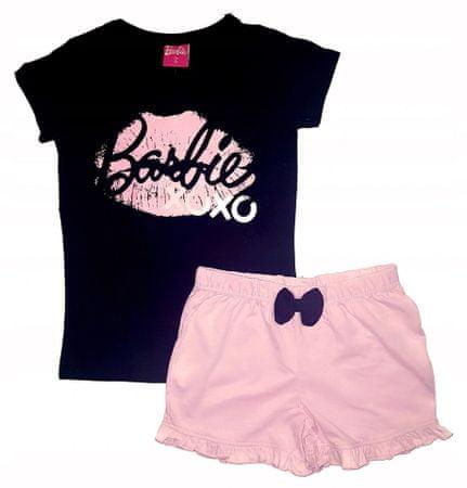 """Eplusm Dziewczęca bawełniana piżama """"Barbie"""" - różowy - 134 / 8–9 lat"""