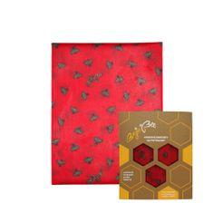 "BajaBee Voskový obrúsok ""BajaBee"" - XL, červené včielky"