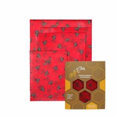 """BajaBee Voskové obrúsky """"BajaBee"""" - Multipack, červené včielky"""