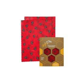 """BajaBee Voskové obrúsky """"BajaBee"""" - 2 x M, červené včielky"""