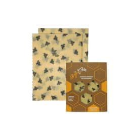 "BajaBee Voskové obrúsky ""BajaBee"" - 2 x M, žlté včielky"
