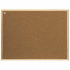 """2x3 Korková deska + kancelářské hřebíky 80 x 60 cm """"2x3"""" eco"""