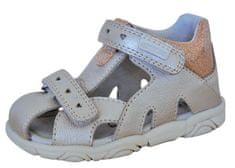 Protetika dievčenské sandále Katy gold