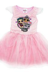 """Eplusm Otroška obleka """"LOL"""" - roza"""