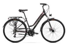 Romet Gazela 2 (2021) treking bicikl, L-19, crno-ružičasta