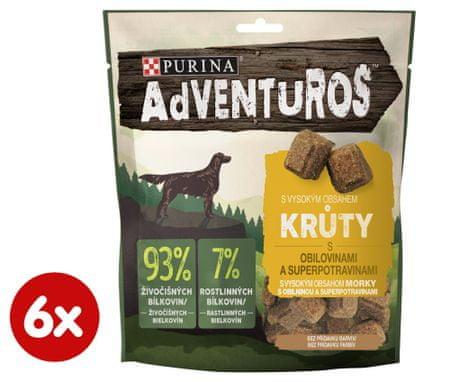 Purina Adventuros poslastice za pse, s purećim mesom i umakom brusnice, 6x 90 g