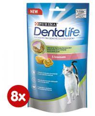 Purina Dentlife Cat s lososom 8 x 40 g
