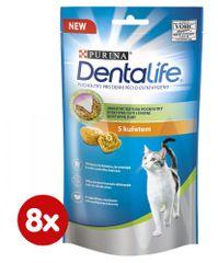 Purina Dentlife Cat s kuraťom 8 x 40 g