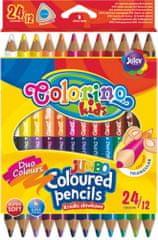 Pastelky trojhranné JUMBO oboustranné 24 barev