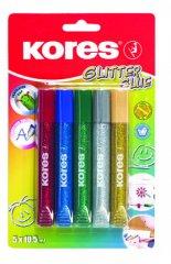 Kores Glitter glue 5 x 10,5 ml