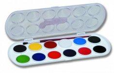 JOVI vodové barvy 12 ks + štětec