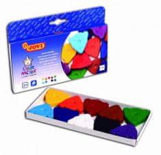 JOVI voskovky MEDVÍDEK, trojúhelníkové 10 ks, 10 barev, základní