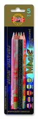 Koh-i-noor souprava trojhraných JUMBO pastelek 10 ks MAGIC