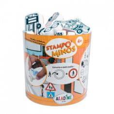 Razítka s příběhem StampoMinos - Dopravní prostředky