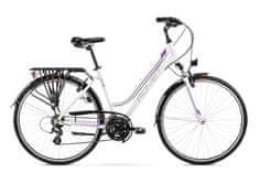 Romet Gazela (2021) treking bicikl, L-19, bijelo-ljubičasta