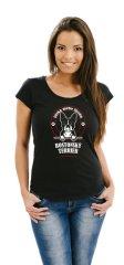 STRIKER Dámské tričko Bostonský terier Barva: Černá, Velikost: S
