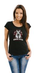 STRIKER Dámské tričko vlčák Barva: Černá, Velikost: S