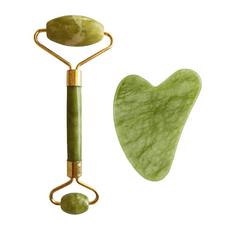 Palsar7 PALSAR7 Masážní váleček a destička Guasha (zelený xiuyan jadeit)