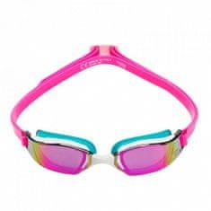 Michael Phelps Plavecké okuliare Xceed ružová / tyrkysová titánovo zrkadlový zorník ružová