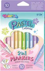 Pastel - oboustranné fixy 10 barev