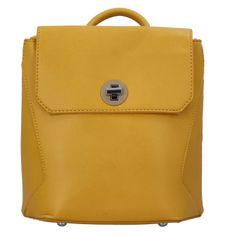 BELLA BELLY Luxusný dámsky koženkový batôžtek Caroline, žltý