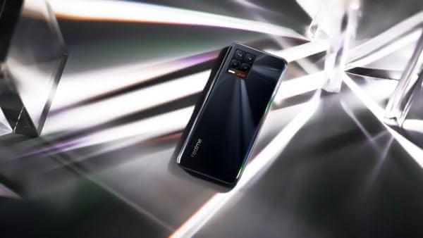 Realme 8 veľký AMOLED displej Full HD+ rozlíšenie dlhá výdrž veľkokapacitná batéria, ultra rýchle nabíjanie, výkonný procesor, štyri fotoaparáty, ultraširokouhlý, makro, NFC obnovacia frekvencia SuperDart nabíjanie MediaTek Helio G95 Android 11 Bluetooth 5.1 čítačka odtlačkov prstov v displeji bezrámečkový displej hĺbkový objektív
