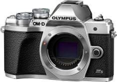 Olympus kompaktni digitalni fotoaparat E-M10 III S Body Silver, srebrni