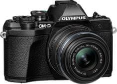 Olympus kompaktni digitalni fotoaparat E-M10 III S 1442II R Kit Black, črni