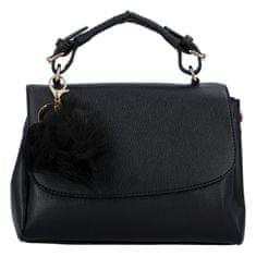 BELLA BELLY Luxusná dámska kabelka do ruky s bambuľkou Joanna, čierna