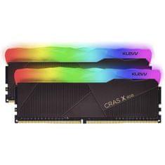 Klevv Cras X RGB memorija (RAM), DDR4 16 GB (2x8GB), 3600 MHz, CL18, 1.35 V (KD48GU880-36A180X)