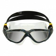 Aqua Sphere Plavecké okuliare VISTA zrkadlové sklá čierna / tm. šedá čierna