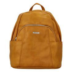 Silvia Rosa Dámsky koženkový batoh Sasha, žltý