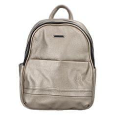 Silvia Rosa Dámsky koženkový batoh Sandras rucksack, strieborný