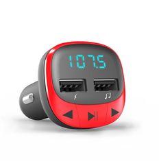 Energy Sistem avtomobiliski FM oddajnik, USB/microSD, Bluetooth, rdeč