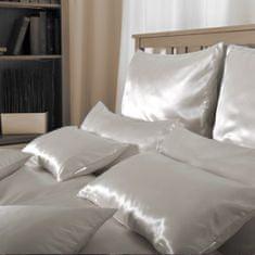 Naturaland Manjša Svilena posteljnina SVETLO RJAVA - Saten svila / 28 momme (mm)